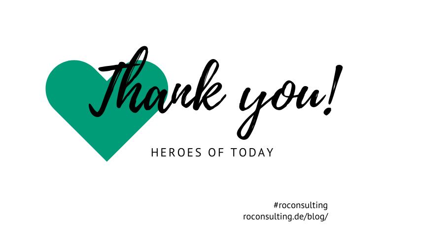 Thank you - Corona Heroes